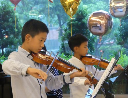 老幼共融音樂會 7歲男童小提琴獻曲長輩 清福溫暖跨世代祖孫情